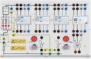 Installationsboard RCD, (FI)-Schutzschalterboard mit Auslösesimulation