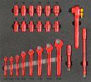 VDE-Werkzeugsatz 2, Schlüsselsatz (23 Teile), Einlagengröße 500x450mm