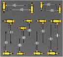 Kfz-Werkzeugsatz 8, Inbus/Torx-Schraubendreher (13 Teile) Einlagengröße 500x450m