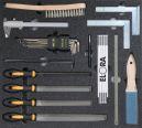 Kälte/Klima-Werkzeugsatz 2, Feinmechanik (22 Teile), Einlagengröße 500x450mm