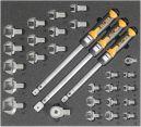 Kälte/Klima-Werkzeugsatz 5, Drehmoment, (29 Teile), Einlagengröße 500x450mm