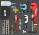 Kälte/Klima-Werkzeugsatz 6, Rohrbearbeitung, (15 Teile), Einlagengröße 500x450mm